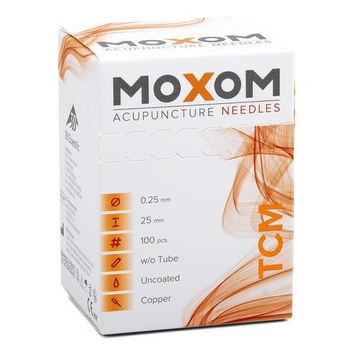 Acupuncture needles MOXOM TCM 100 pcs. (Uncoated) 0,25 x 25 mm, 1022101, Acupuncture Needles MOXOM