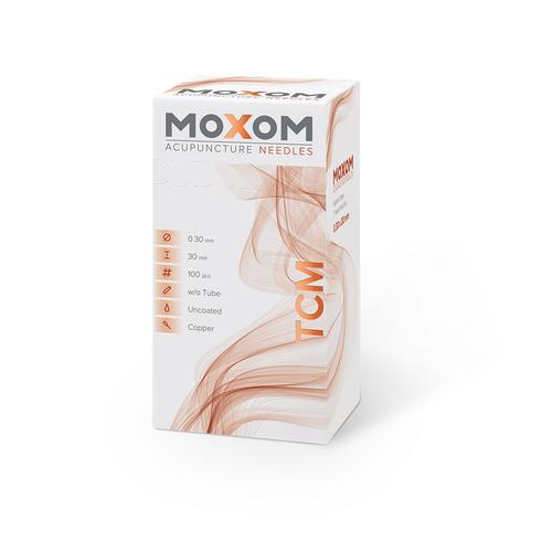 Acupuncture needles MOXOM TCM 100 pcs. (Uncoated) 0,30 x 30 mm, 1022102, Acupuncture Needles MOXOM