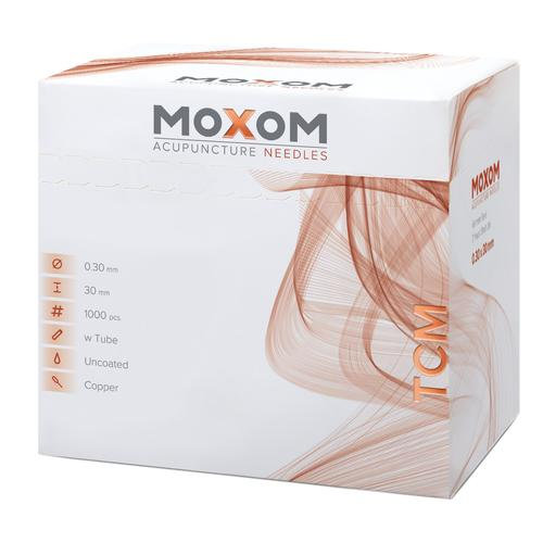 Acupuncture needles with copper handle - MOXOM TCM 1000 pcs. (Uncoated) 0,30 x 30 mm, 1022107, Acupuncture Needles MOXOM