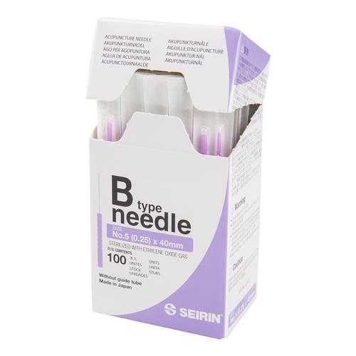 SEIRIN  ® type B - 0.25 x 40mm, violett handle, 100 needles per box., 1017650 [S-B2540], Acupuncture Needles SEIRIN