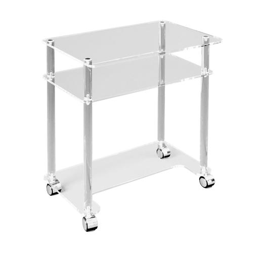 Plexiglas side table (60 wide; 40 deep; 90 high), 1009656 [W14238], Laser Acupuncture Devices