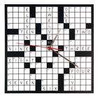 W64701C: Crossword Puzzle Clock